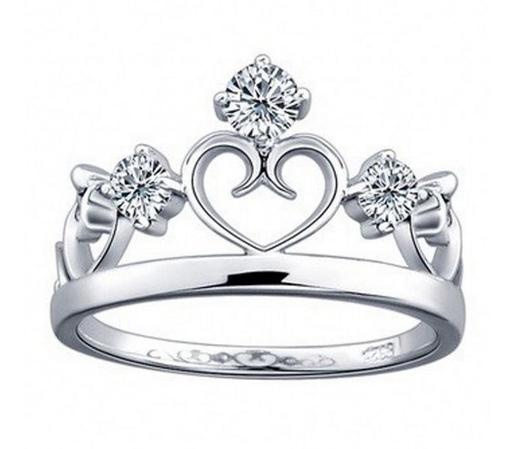 Silver Princess Crown Ring Children Ring Children by ...