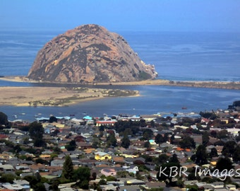 Morro Bay Rock and Houses