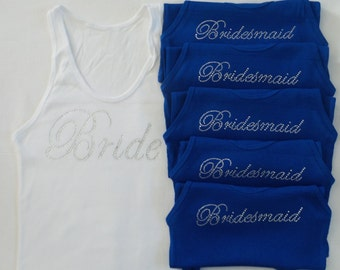 6 Bridesmaid Tank Top. Bridesmaid Shirt. Bachelorette Tank. Weddig Party. Maid of Honor Tank. Wedding Bridal Party. S.M.L.XL.