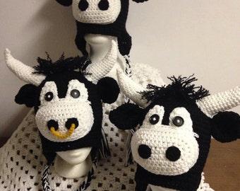 Bull Hat (Newborn to XXL Adult)