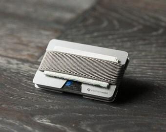 Metal wallet, credit card wallet, men's and women's wallet, aluminum slim minimalist wallet, modern design wallet, N wallet