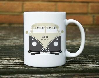 Personalised Wedding Campervan Mug - Mr Groom