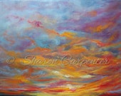 Sunset Sky - Original Abstract Oil Painting