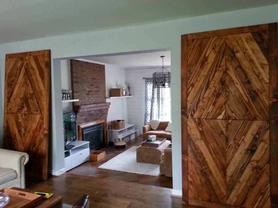 solid reclaimed wood barn doors diamond by wonderlandwoodworks