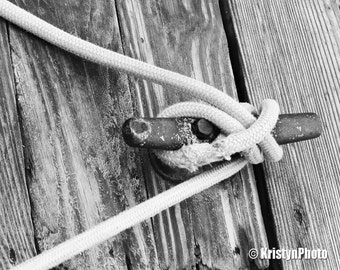 The Knot Black n White Nautical Fine Art Photography