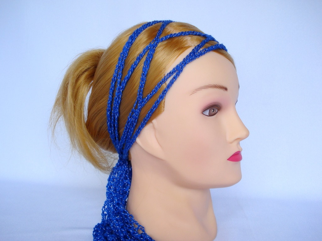Crochet Hair Wrap : Crochet headband hair scarf Gypsy head wrap by LJaccessories
