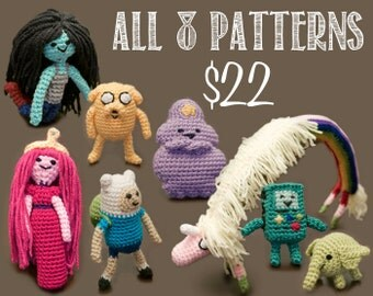 All Eight (8) Adventure Time Amigurumi Crochet Patterns