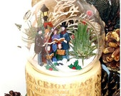 A Christmas Carol Carolers Winter Terrarium Kit Tillandsia Air Plants - Glass Round Globe Ornament ~ Holiday Decor ~ Home Decor ~ Gift Idea - AGiftofNature