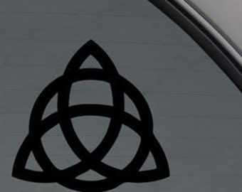 """Triquetra Trinity Knot  4.5"""" Vinyl Decal Window Sticker for Car, Truck, Motorcycle, Laptop, Ipad, Window, Wall, ETC"""