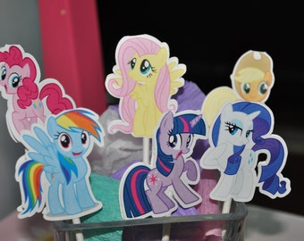 My Little Pony Cupcake Toppers Set of 12