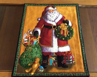 "13"" x 10 1/2"" Santa table topper"