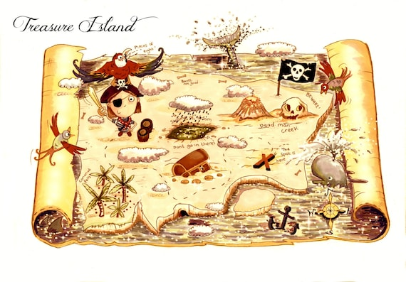 Peaceful image with regard to printable treasure maps