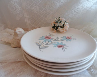 Five 1950s STEUBENVILLE PLATES in the FAIRLANE Pattern
