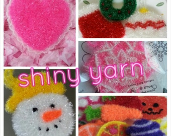 Korean Yarn - Scrubby Yarn - 1 skein - Specialty Yarn - Well B Brand- new color- Dark Brown Available