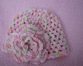 Floppy Flower Cloche Style Beanie
