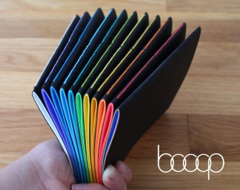 """Little Black Book - 4.25"""" x 5.5"""" Handmade Notebook w/40 Pages - Available In 12 Colors & Rainbow"""
