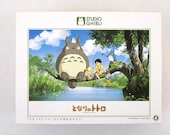 """My Neighbor Totoro 500 Piece Puzzle - """"What Will We Catch, Totoro?"""" - Japanese Import (1988)"""