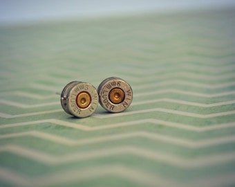 9mm Bullet shell Earring Studs