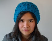 Warm Womens Knit Slouch Hat made from 100% Wool