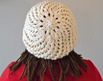 Warm Winter Womens Hand Knit Slouch Hat made from 100% Wool