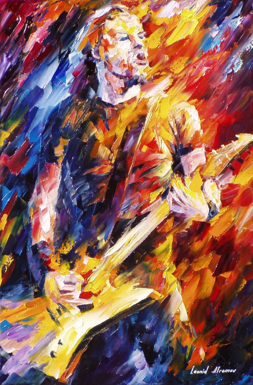 Metallica james hetfield palette knife wall art portrait for What paint for canvas