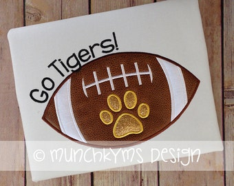 Football with Paw Applique
