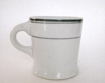 Popular items for vintage diner on etsy for Heavy ceramic coffee mugs