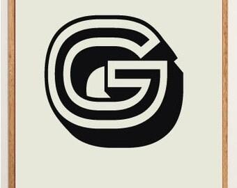 Mid-Century Modern Letter G