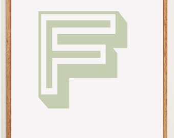 Mid-Century Modern Letter F