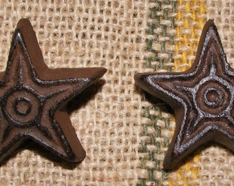 Cast Iron Rustic Star SET OF 2 Cabinet Furniture Drawer Pulls Handle Knob #409