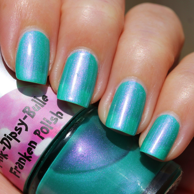 Pink And Blue Nail Polish: Water Lily Franken Nail Polish Blue Green With Pink Purple