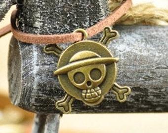 skull charms-20 pcs antique bronze pirate skull badge charm pendant 29x27mm pirate pendant