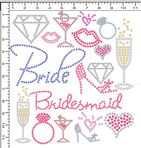Pre cut sticky flock hotfix rhinestone iron on by blingblondie for Sticky flock pre cut templates