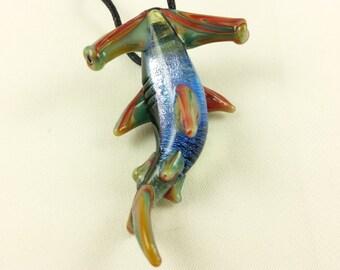 Hammerhead Shark - Glass Necklace