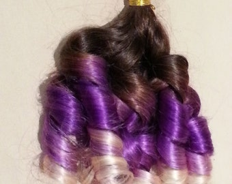 "18"" 100grs,100s,Nail (U) Tip Pastel Human Hair Extensions # Grape"