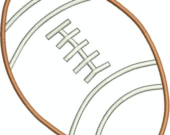 FootBall Applique and Fill Machine Embroidery Design 003-3