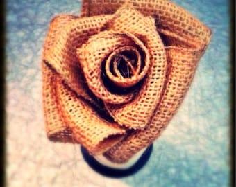 Burlap Rose