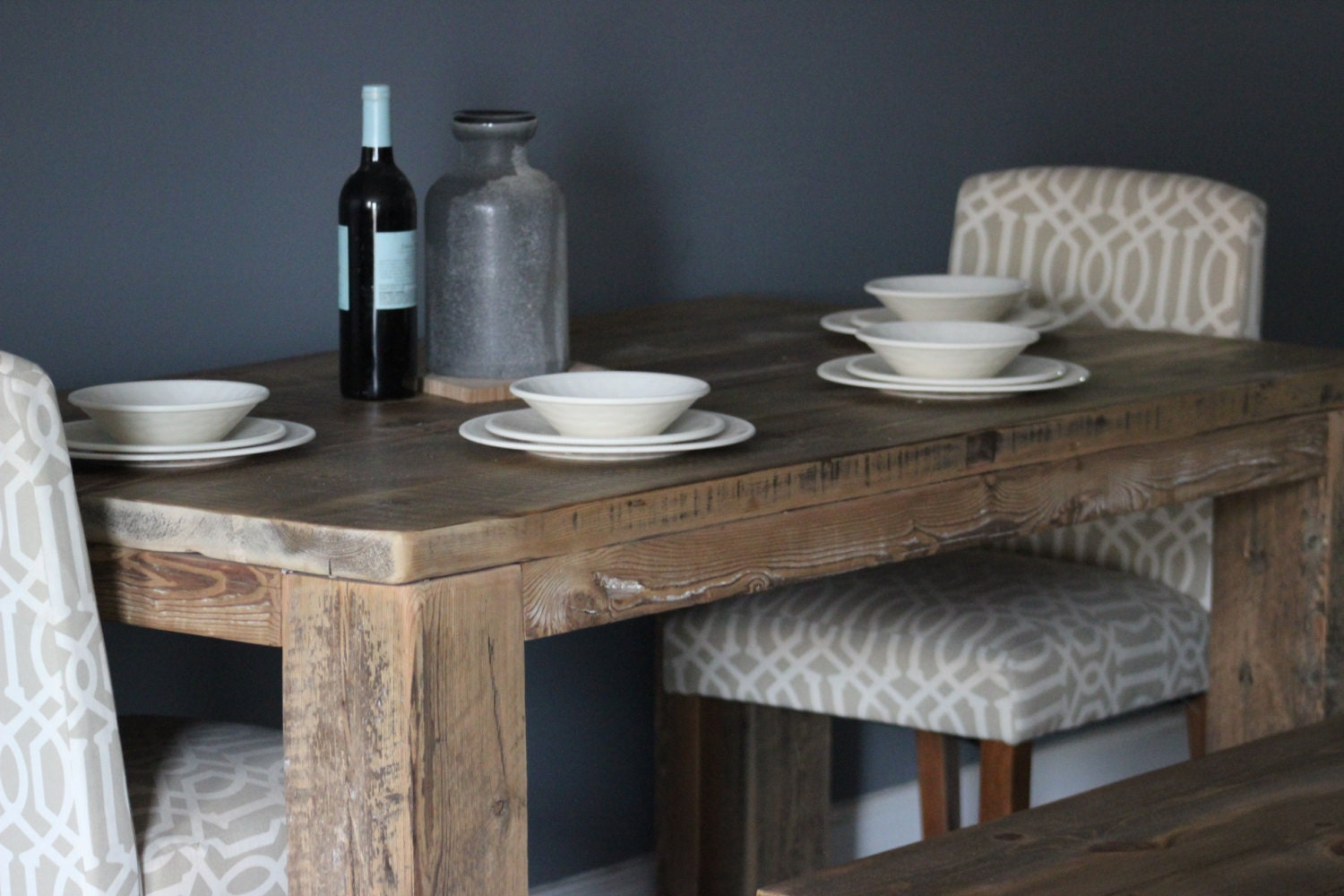 Rustic Elegant Farmhouse Table Table Kitchen Table By Dendroco
