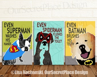 Popular items for super hero bathroom on Etsy