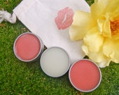 Birthday Gift Lip Balm Pack - 3 All Natural Lip Balm Tins