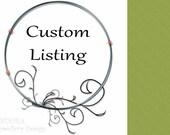 Custom listing for Mykaelah