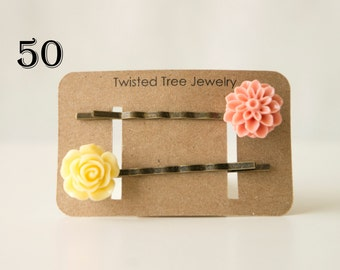 Custom Hair Pin Holders-Personalized- Many Colors Available (50 Cards)