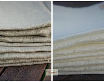 Linen Tea Towels / Set of 2 Pure Plain 100 %  Natural Linen Kitchen Tea Towels