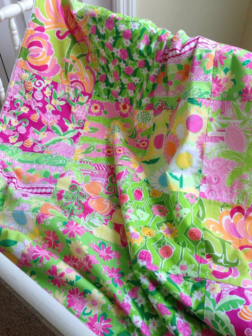 Lilly Pulitzer Baby BlanketLilly BlanketBaby GirlPatchwork