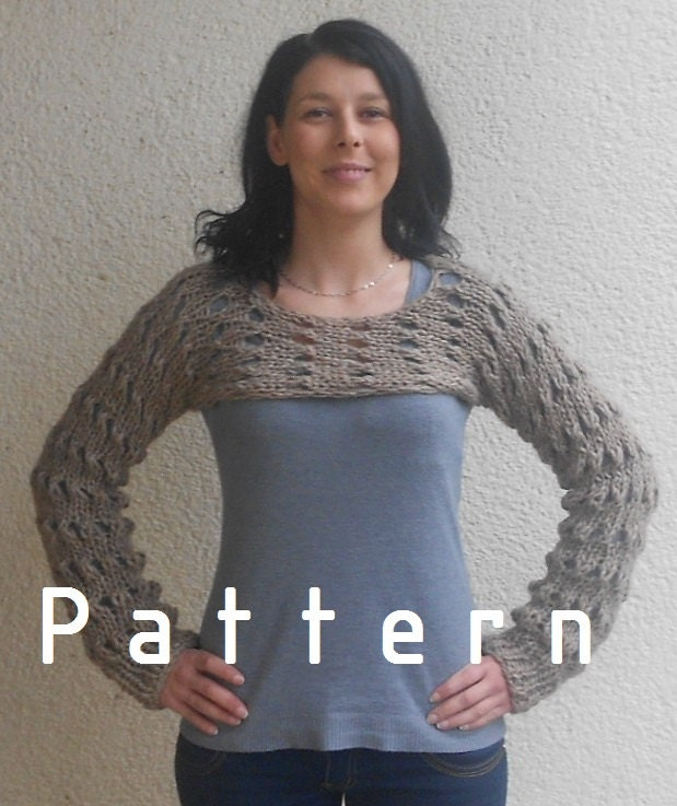 Knitting Pattern For Shrug Sweater : Knitting Pattern for the Browny cropped sweater shrug ...
