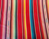 Woven Stripes in Red, Turquoise, Yellow (Medium Woven Fabric) from the Woven Stripes collection for Diamond Textiles