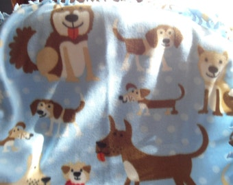 LAST ONE ~ Happy Dogs Fleece Chew Blanket