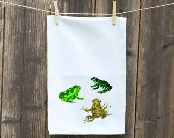 Flour Sack Towel-Tea-Dish-Hand-Kitchen-Three Frogs