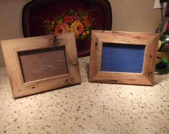 Reclaimed Oak Picture Frames w/ hangers, backs and glass