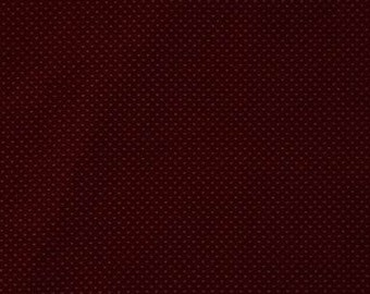 QB49-Cotton Pinwale Corduroy,21 WALES,Tiny Leaves Printing in Maroon, Autumn/Spring Clothing Fabric Supplies for Coat, Pants by 1/2 Yard Cut